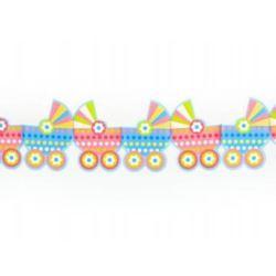 balony, balony na hel, dekoracje balonowe, balony Łódź, balony z nadrukiem, Girlanda bibułowa - wózeczki 14x300cm.