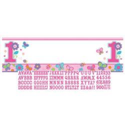 Baner na 1 urodziny 165x50,8 - dziewczynka