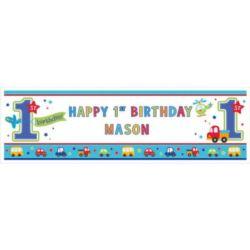 Baner na 1 urodziny - chłopiec