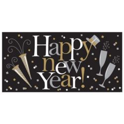 "Baner 165x80 cm ""Happy new Year"""