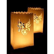 Lampion, torebki na świece, 15x9x26cm 10 szt.