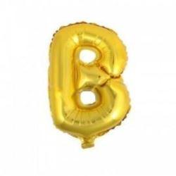 """Balon foliowy 32"""" - literka B- złoto 1 szt."""