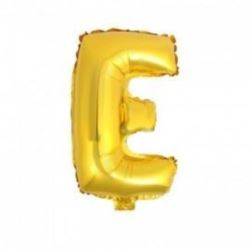 """Balon foliowy 32"""" - literka E - złoto. 1 szt."""