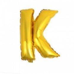 """Balon foliowy 32"""" - literka K- złoto, 1 szt."""
