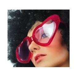 Okulary Mega serca,czerwony, 1 szt.