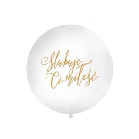 Balon 1 m, Ślubuję Ci..., biały