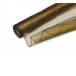 Organza obszywana, gładka w kolorze st.złota