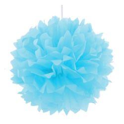 Pompon dekoracyjny błękitny, śr. 40 cm