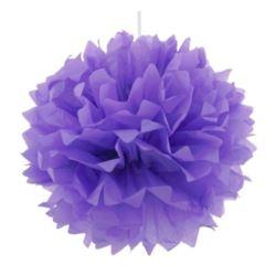 Pompon dekoracyjny lawendowy, śr. 40 cm