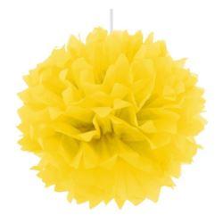 Pompon dekoracyjny żółty, śr. 40 cm