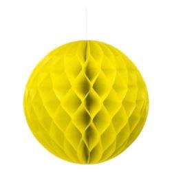 balony, balony na hel, dekoracje balonowe, balony Łódź, balony z nadrukiem, Kula dekoracyjna, żółta śr. 30 cm