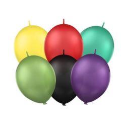 """Balony 12"""" z łącznikiem, Pastel mix"""