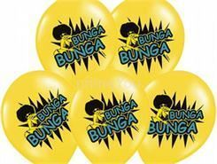 """Balon 14"""" PastelB.Yellow """"Bunga Bunga"""", 6szt."""
