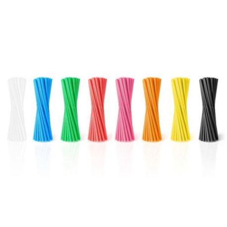 Rurki (słomki) proste / 20 szt, różne kolory,EB