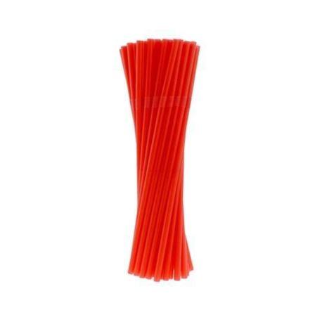Rurki (słomki) łamane czerwone 5x210mm/40 szt.