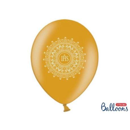 Balony 30 cm IHS Metalic Gold 6 szt.