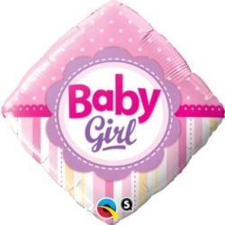 """Balon, foliowy 18"""" QL SQR """"Baby Girl"""""""