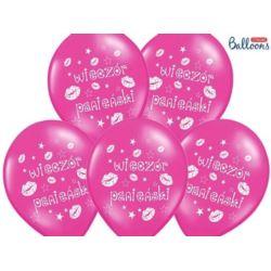 balony, balony na hel, dekoracje balonowe, balony Łódź, balony z nadrukiem, Balony 30 cm,Wieczór Panieński,M Hot Pink, 50 szt.