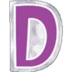 "Naklejka Litera ""D"" wysokość 58mm"