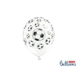 balony, balony na hel, dekoracje balonowe, balony Łódź, balony z nadrukiem, Balony 30 cm, Piłki nożne P.White, 50 szt.
