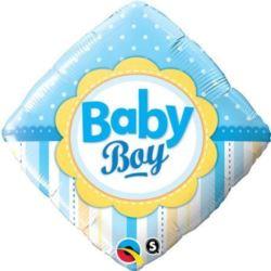 """Balon, foliowy 18"""" QL SQR""""Baby Boy"""""""