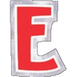 """Naklejka Litera """"E"""" wysokość 58mm"""