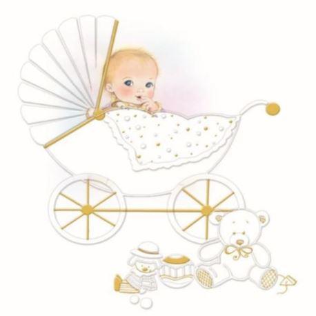 """balony, balony na hel, dekoracje balonowe, balony Łódź, balony z nadrukiem Serwetki 16-008 """"Chrzest"""" 33x33 cm - 20 szt."""