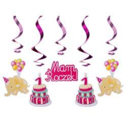 balony, balony na hel, dekoracje balonowe, balony Łódź, balony z nadrukiem, Świderki urodzinowe różowe, dł 60cm