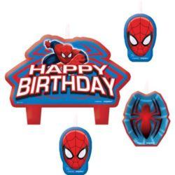 Świeczki Spider Man 4 szt.