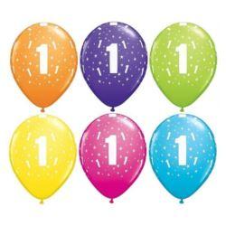 "Balon QL 11"" z nad.""1"" pastel mix tropikalny"