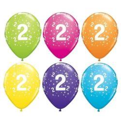 "Balon QL 11"" z nadr.""2"", pastel mix tropikalny / 6"