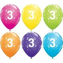 "Balon QL 11"" z nadr.""3"" pastel mix tropikalny"