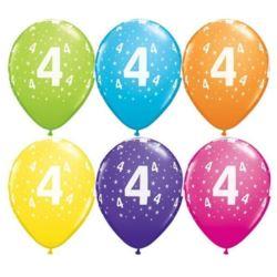 "Balon QL 11"" z nadr ""4"", pastel mix tropikalny"