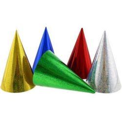 Czapeczka holograficzna różne kolory /6 szt.
