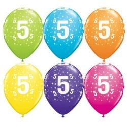 "Balon QL 11"" z nad.""5"" pastel mix tropikalny"