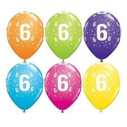"Balon QL 11"" z nad.""6"" pastel mix tropikalny"