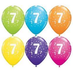 "Balon QL 11"" z nadr.""7"", pastel mix tropikalny"