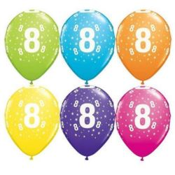 "Balon QL 11"" z nadr""8"" , pastel mix tropikalny"