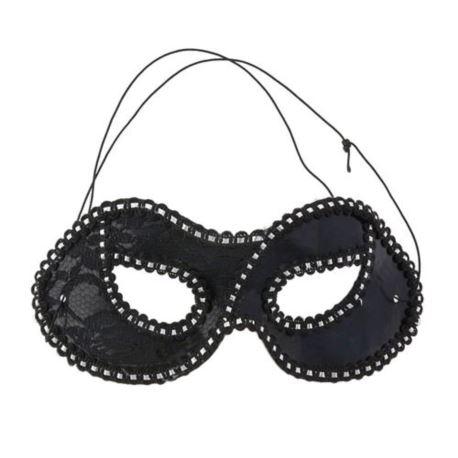 Maska Dama z koronką, czarna (MARK-LN027)