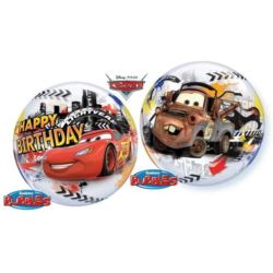 "Balon foliowy 22"" QL Bubble Poj.Lighting Mcqueen"""