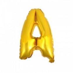 """Balon foliowy 32"""" - literka A - złoto 1 szt."""