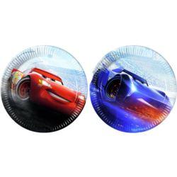 """balony, balony na hel, dekoracje balonowe, balony Łódź, balony z nadrukiem, Talerzyki papierowe """"Cars The Legend Of The Track"""""""