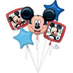 """balony, balony na hel, dekoracje balonowe, balony Łódź, balony z nadrukiem, Bukiet balonow """"Mickey Roadster Racers"""", 5 balonow"""