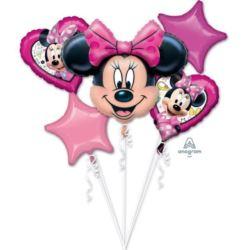 """balony, balony na hel, dekoracje balonowe, balony Łódź, balony z nadrukiem, Bukiet balonów """"Minnie Happy Helpers"""""""
