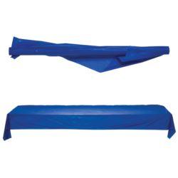 Obrus na rolce plastikowy niebieski, 30,4 x 1 m