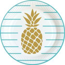 Talerzy Pineapple Vibes 23cm 8szt.