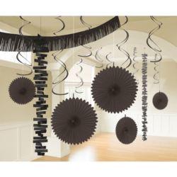 balony, balony na hel, dekoracje balonowe, balony Łódź, balony z nadrukiem, Zestaw dekoracji, czarny, 18-czesciowy