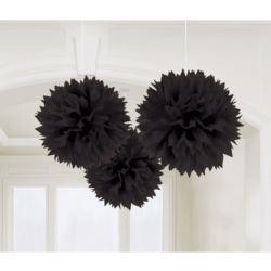 balony, balony na hel, dekoracje balonowe, balony Łódź, balony z nadrukiem, Dekoracyjne kule, czarny, 40,6cm 3szt.