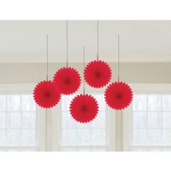 balony, balony na hel, dekoracje balonowe, balony Łódź, balony z nadrukiem, Wiatraki 15,2 cm czerwony 5szt.