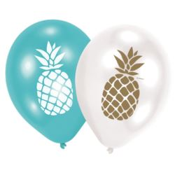 balony, balony na hel, dekoracje balonowe, balony Łódź, balony z nadrukiem, Balonow lateksowych 1C Pineapple Vibes 6szt.